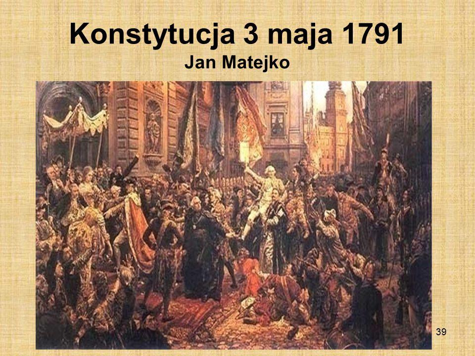 Konstytucja 3 maja 1791 Jan Matejko