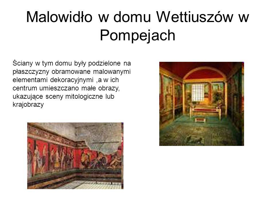 Malowidło w domu Wettiuszów w Pompejach