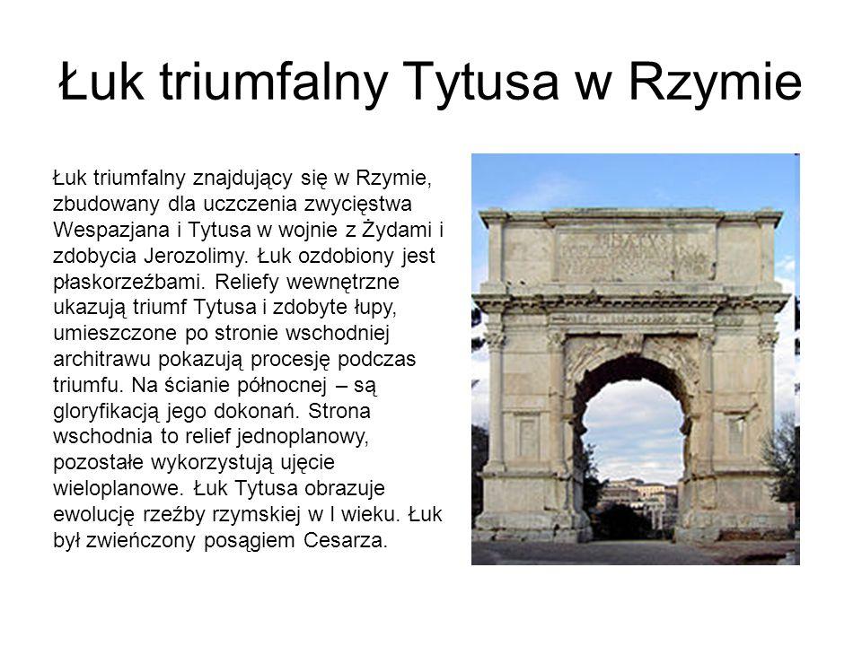 Łuk triumfalny Tytusa w Rzymie