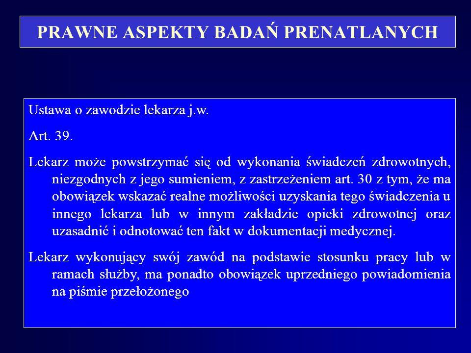 PRAWNE ASPEKTY BADAŃ PRENATLANYCH