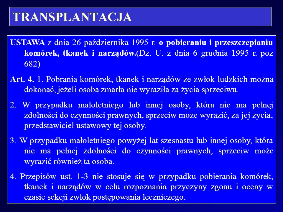 TRANSPLANTACJA