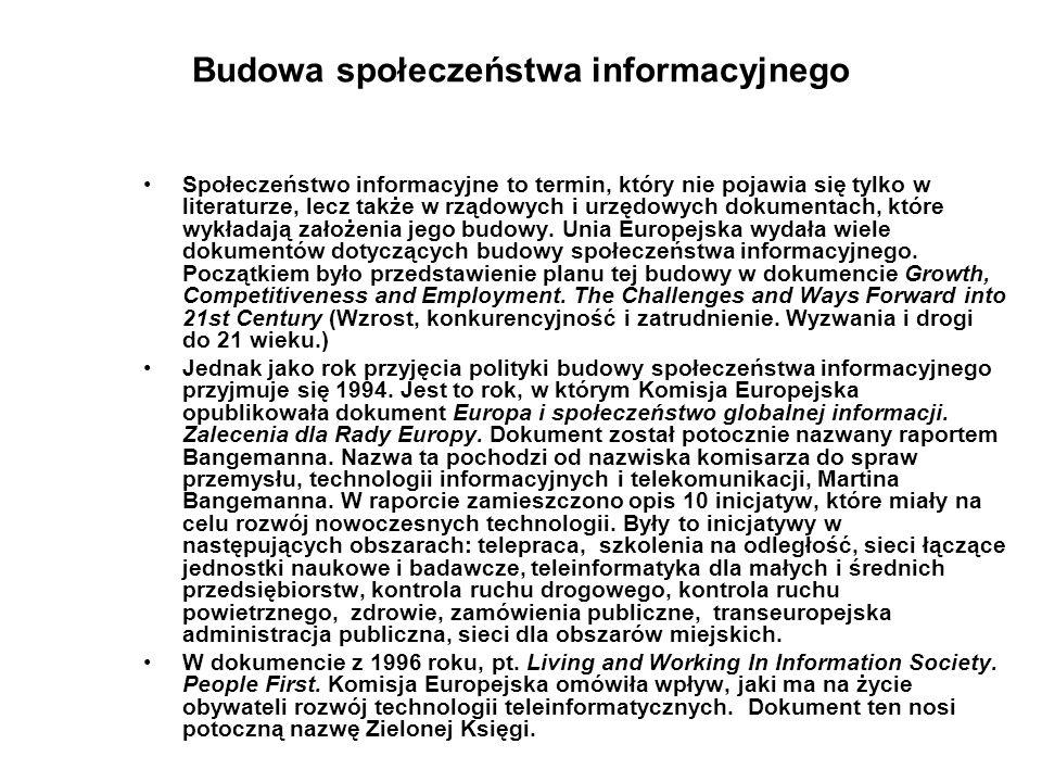 Budowa społeczeństwa informacyjnego