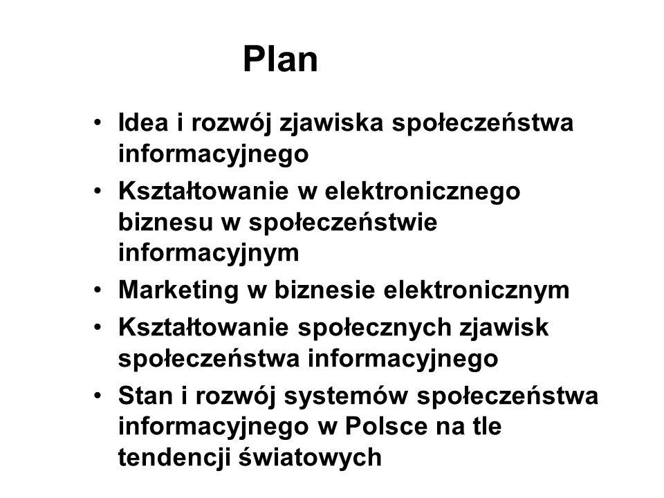 Plan Idea i rozwój zjawiska społeczeństwa informacyjnego