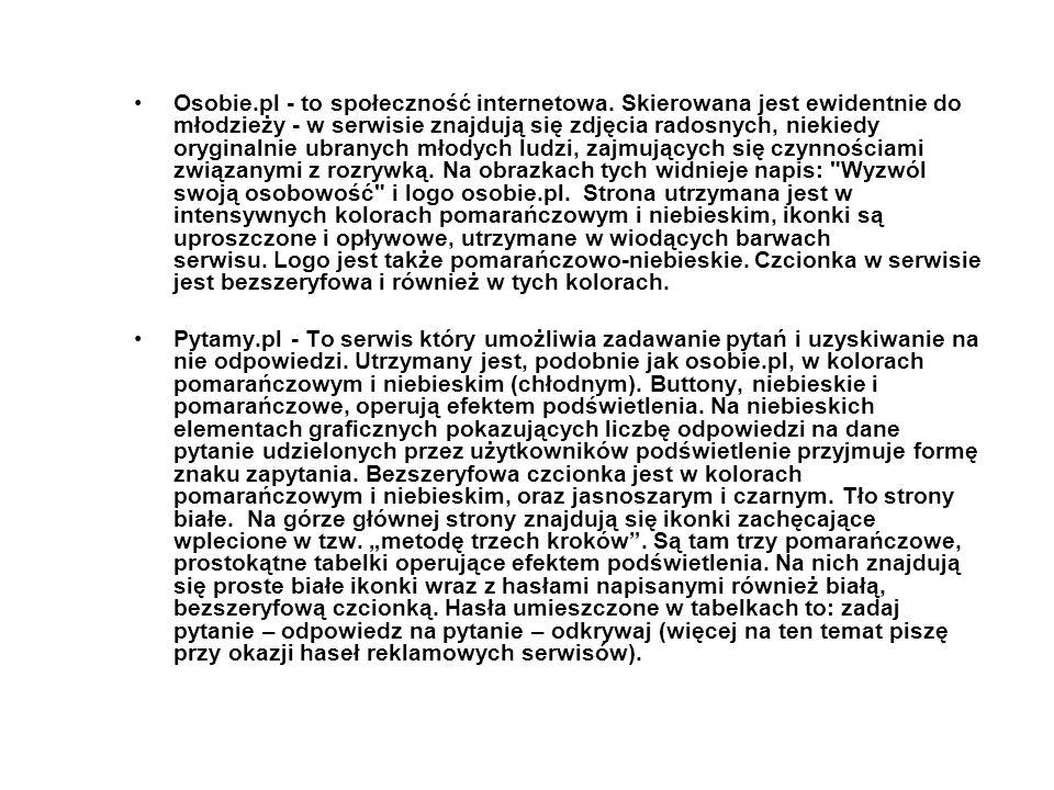 Osobie. pl - to społeczność internetowa