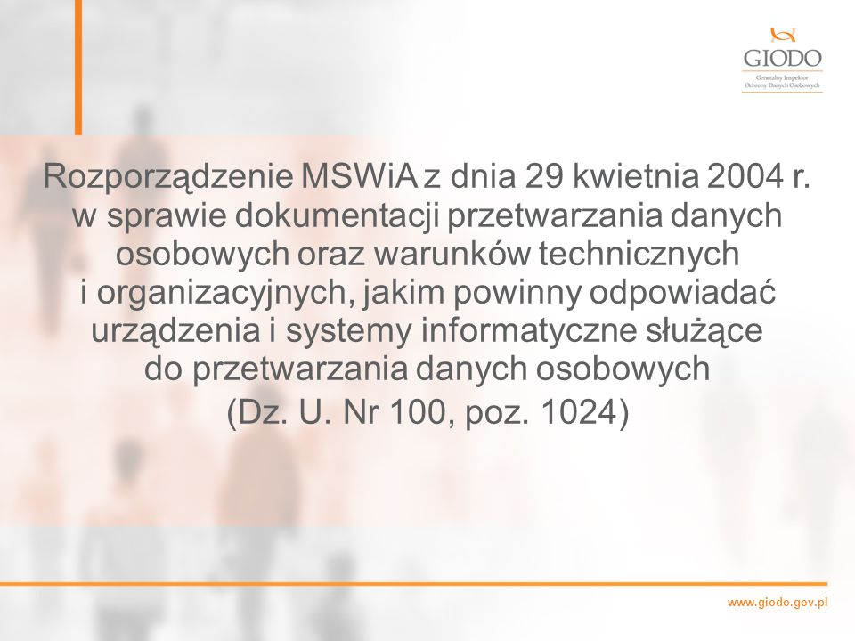 Rozporządzenie MSWiA z dnia 29 kwietnia 2004 r