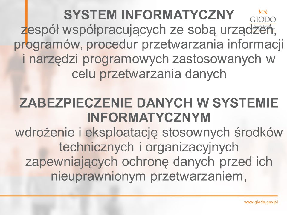 ZABEZPIECZENIE DANYCH W SYSTEMIE INFORMATYCZNYM