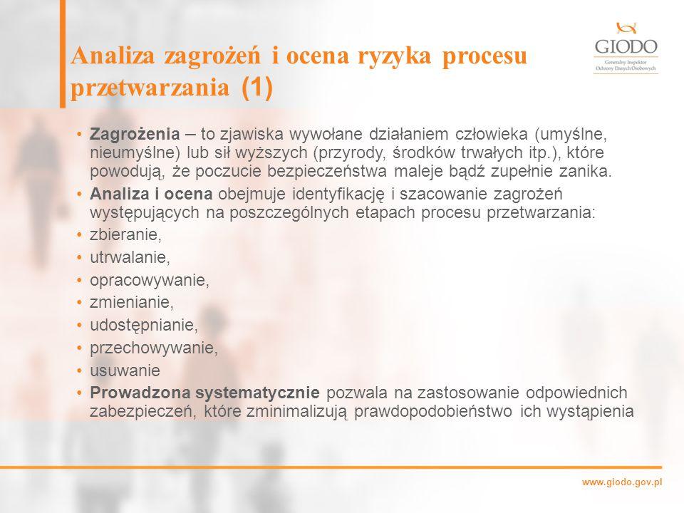 Analiza zagrożeń i ocena ryzyka procesu przetwarzania (1)