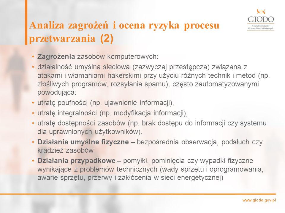 Analiza zagrożeń i ocena ryzyka procesu przetwarzania (2)