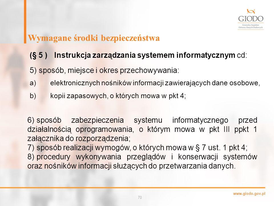 a) elektronicznych nośników informacji zawierających dane osobowe,