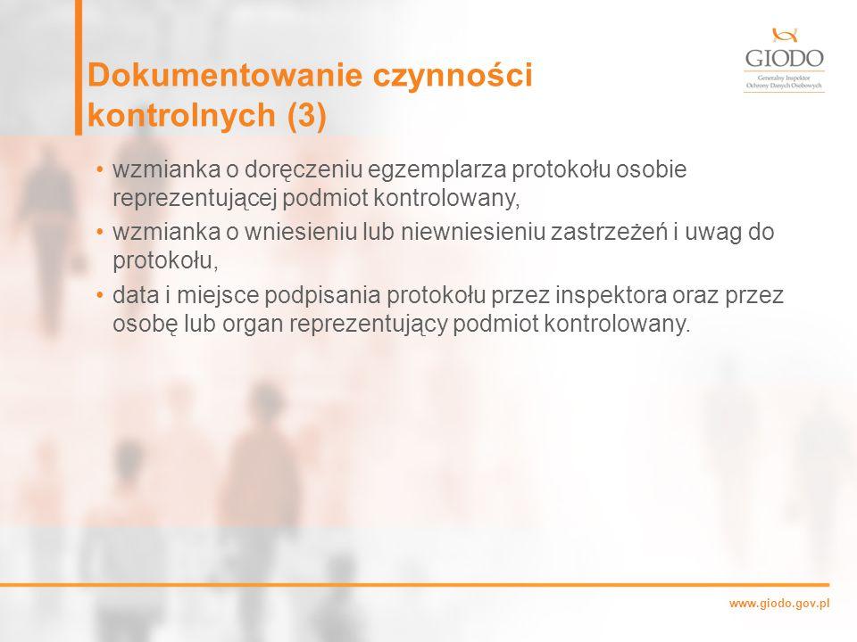 Dokumentowanie czynności kontrolnych (3)
