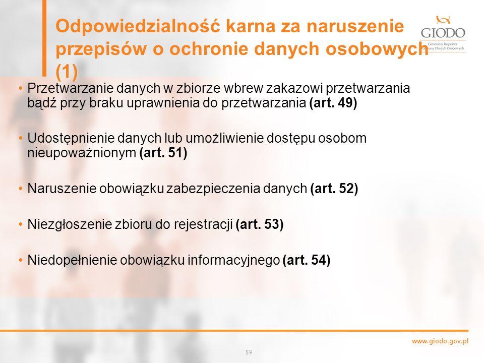Odpowiedzialność karna za naruszenie przepisów o ochronie danych osobowych (1)