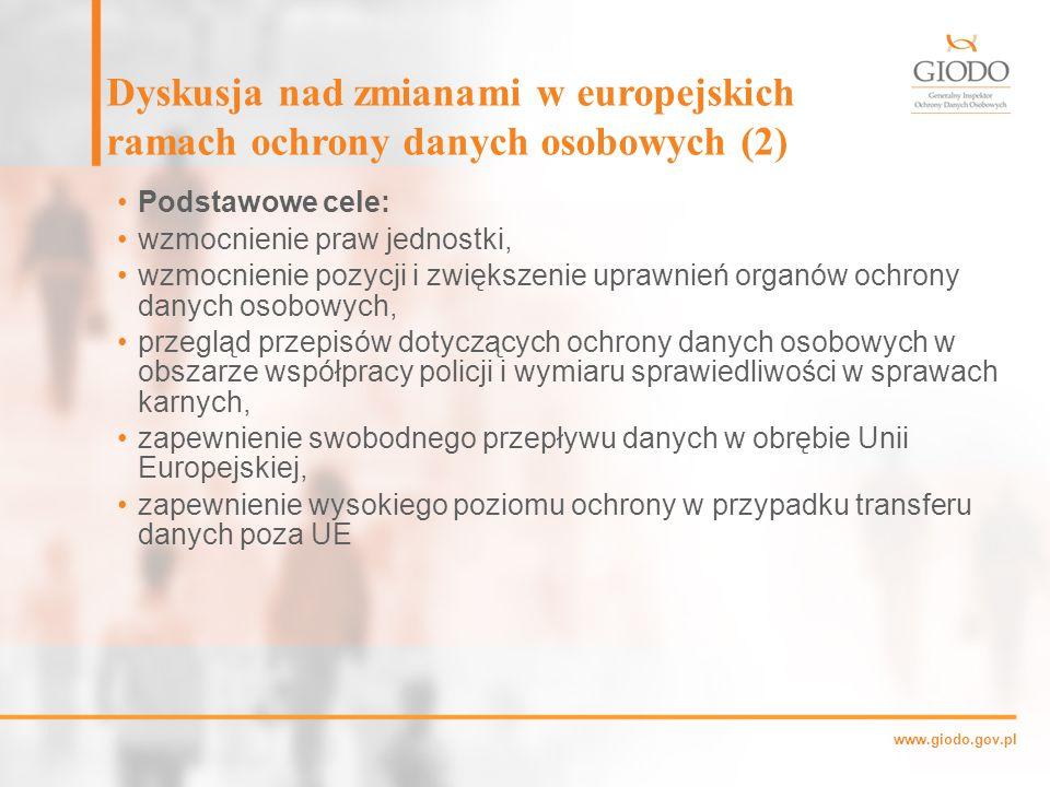 Dyskusja nad zmianami w europejskich ramach ochrony danych osobowych (2)