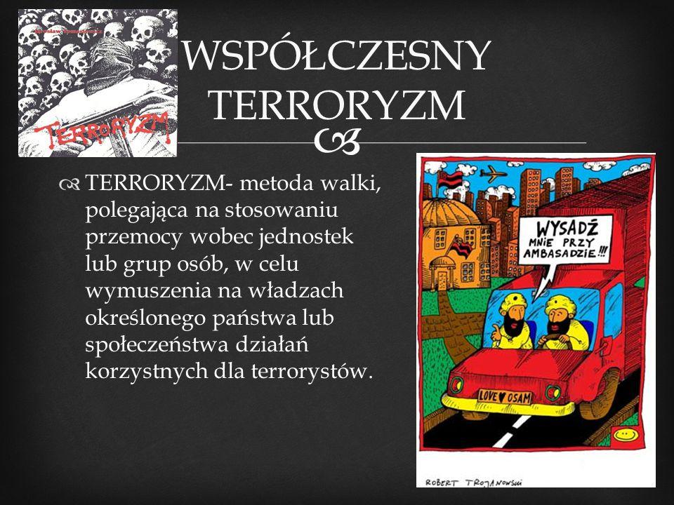 WSPÓŁCZESNY TERRORYZM