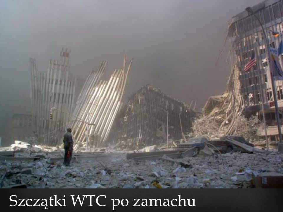 Szczątki WTC po zamachu