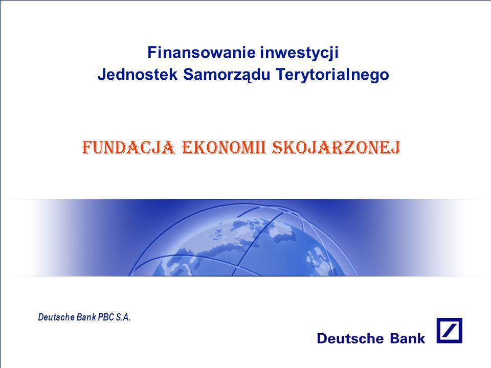 Finansowanie inwestycji Jednostek Samorządu Terytorialnego