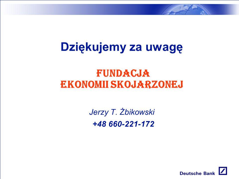Dziękujemy za uwagę FUNDACJA EKONOMII SKOJARZONEJ Jerzy T