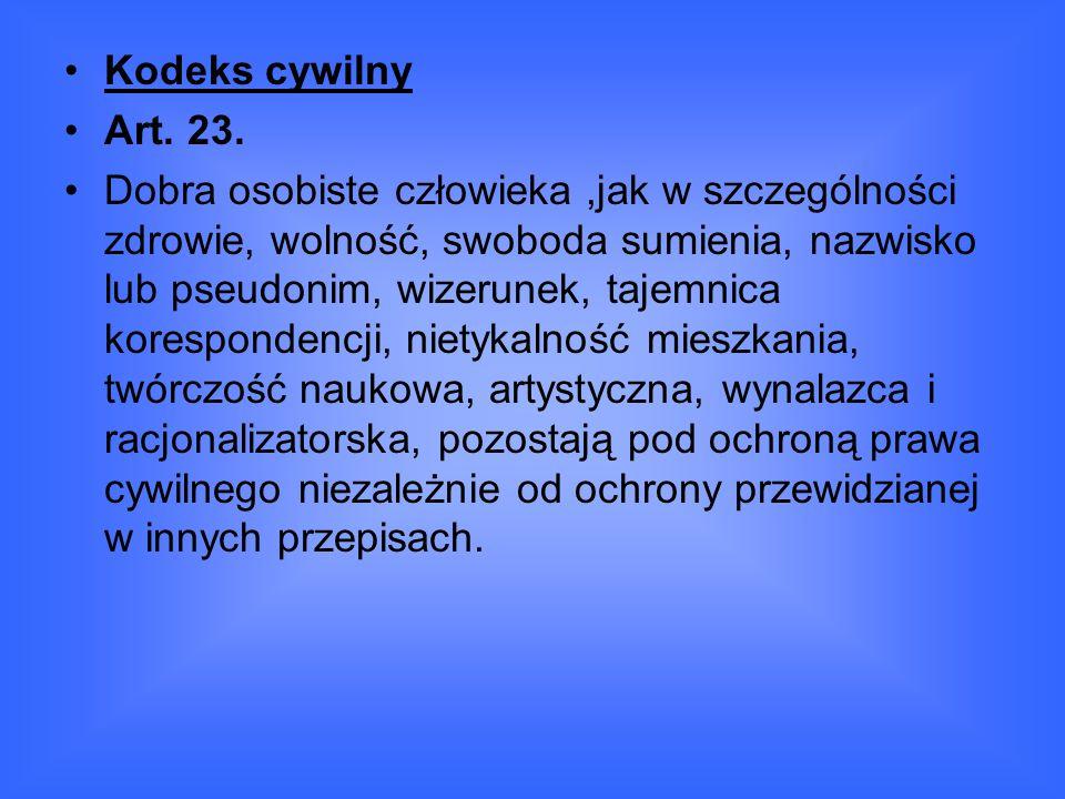 Kodeks cywilny Art. 23.