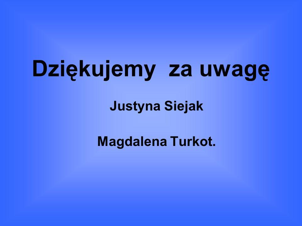 Dziękujemy za uwagę Justyna Siejak