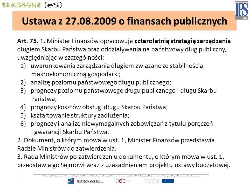 Ustawa z 27.08.2009 o finansach publicznych