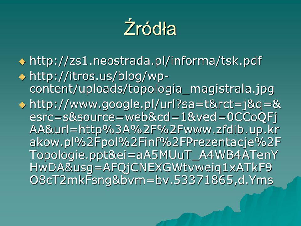 Źródła http://zs1.neostrada.pl/informa/tsk.pdf