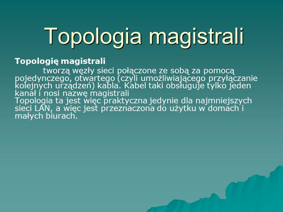 Topologia magistrali Topologię magistrali