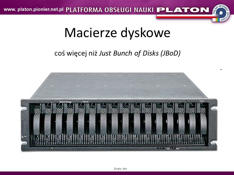coś więcej niż Just Bunch of Disks (JBoD)