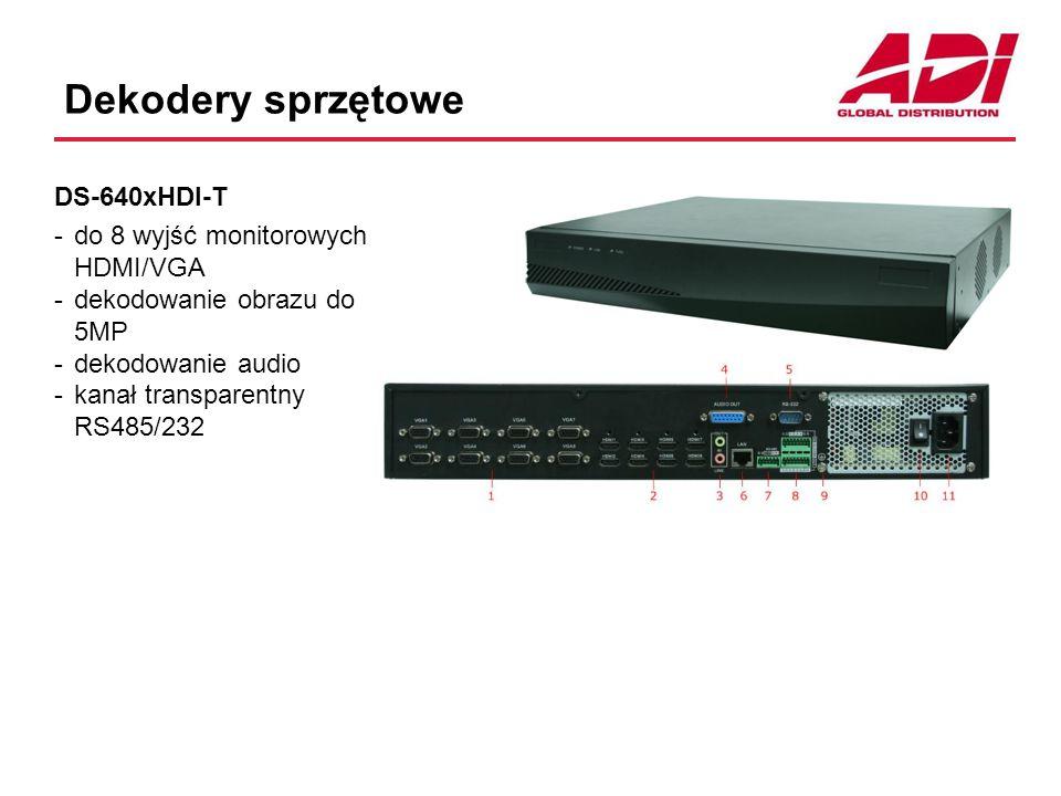 Dekodery sprzętowe DS-640xHDI-T do 8 wyjść monitorowych HDMI/VGA