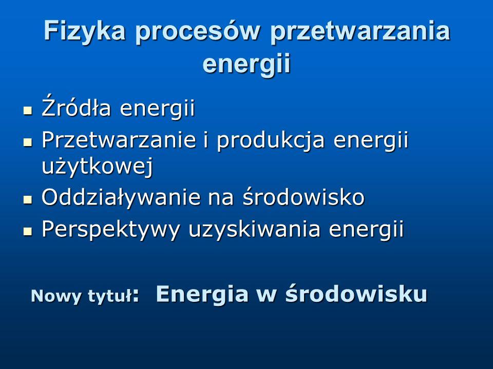 Fizyka procesów przetwarzania energii