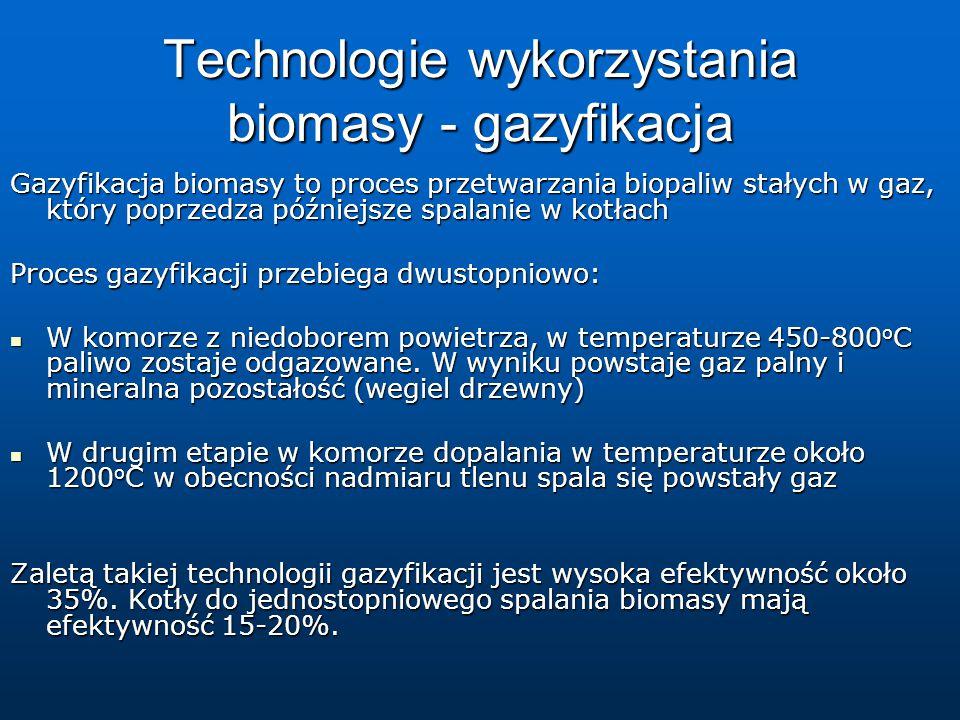 Technologie wykorzystania biomasy - gazyfikacja