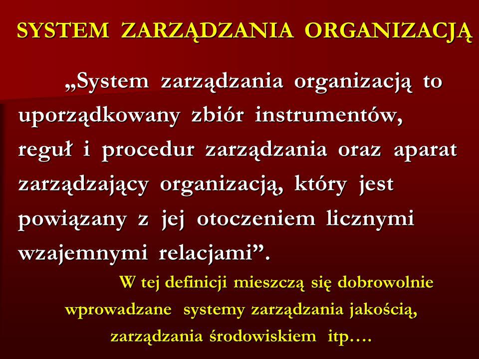 SYSTEM ZARZĄDZANIA ORGANIZACJĄ
