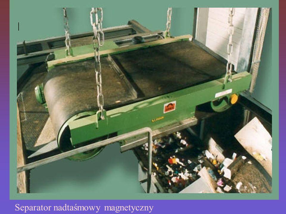 Separator nadtaśmowy magnetyczny