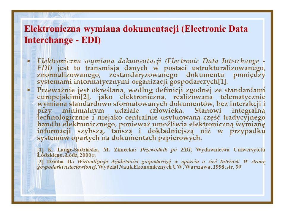Elektroniczna wymiana dokumentacji (Electronic Data Interchange - EDI)