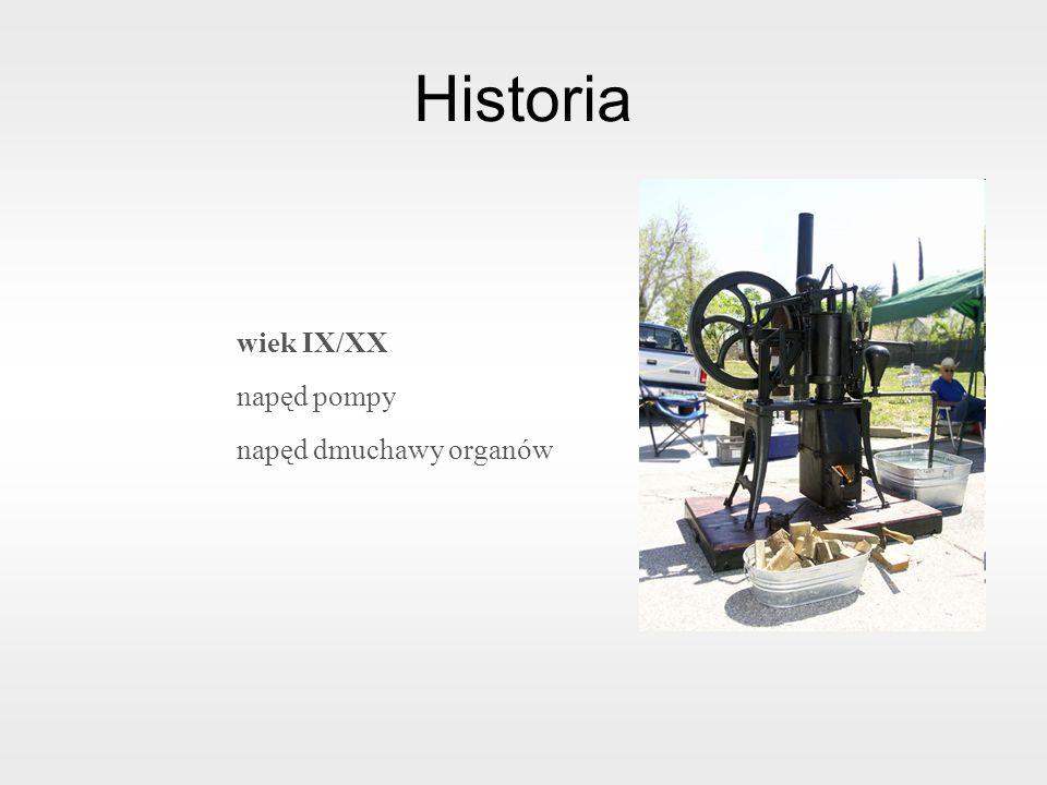 Historia wiek IX/XX napęd pompy napęd dmuchawy organów