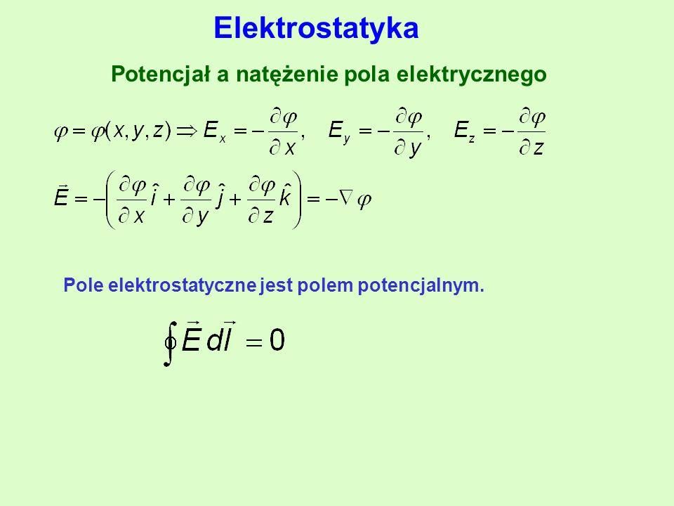 Potencjał a natężenie pola elektrycznego
