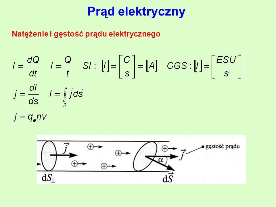 Natężenie i gęstość prądu elektrycznego