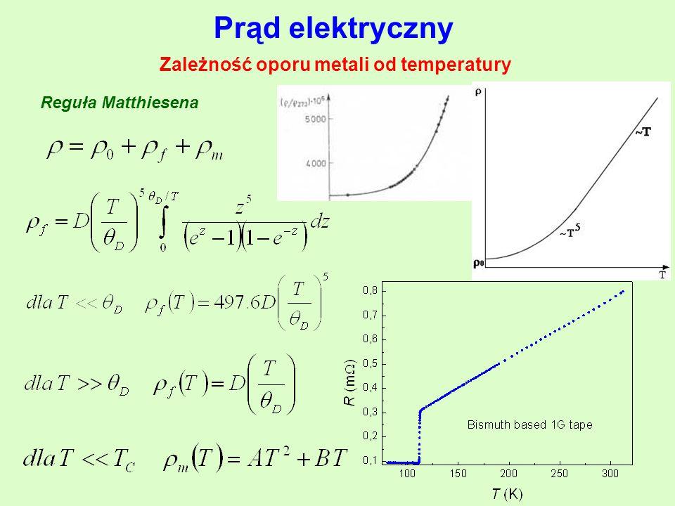 Zależność oporu metali od temperatury