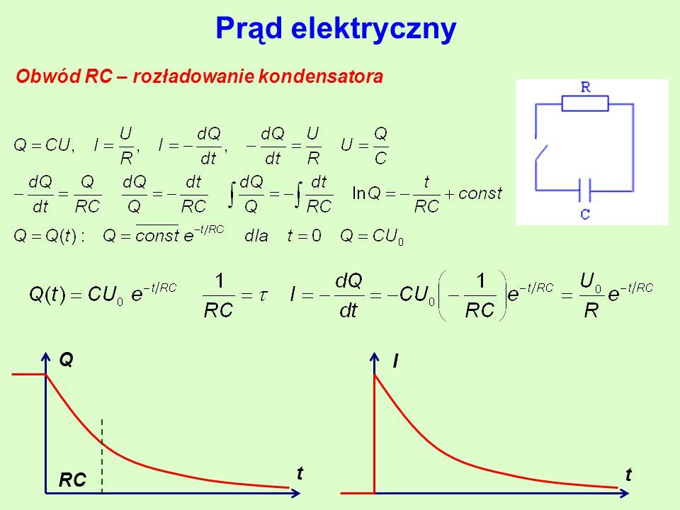Obwód RC – rozładowanie kondensatora
