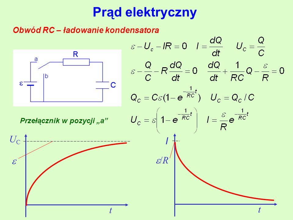 Obwód RC – ładowanie kondensatora