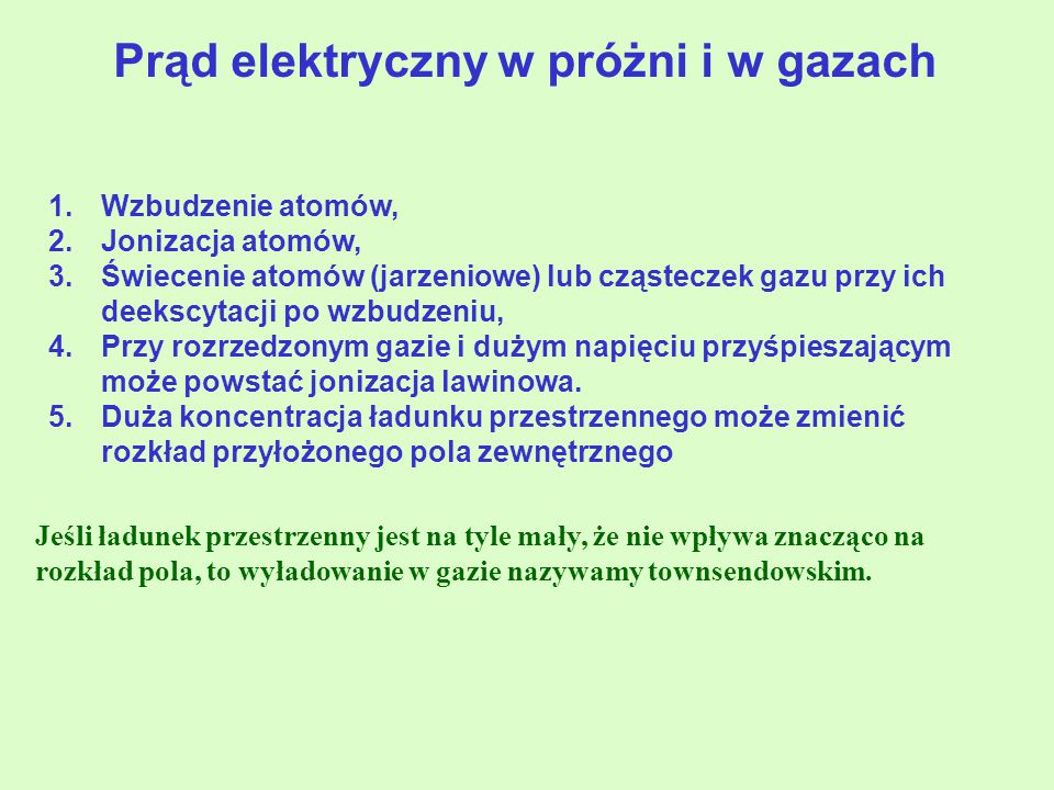 Prąd elektryczny w próżni i w gazach