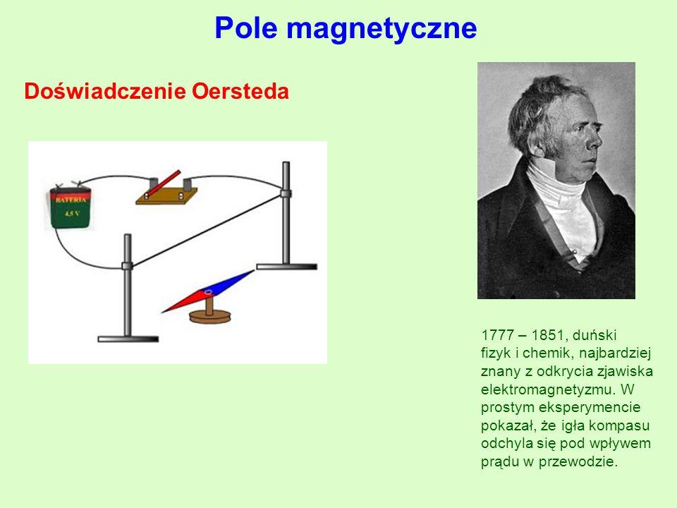 Pole magnetyczne Doświadczenie Oersteda 1777 – 1851, duński