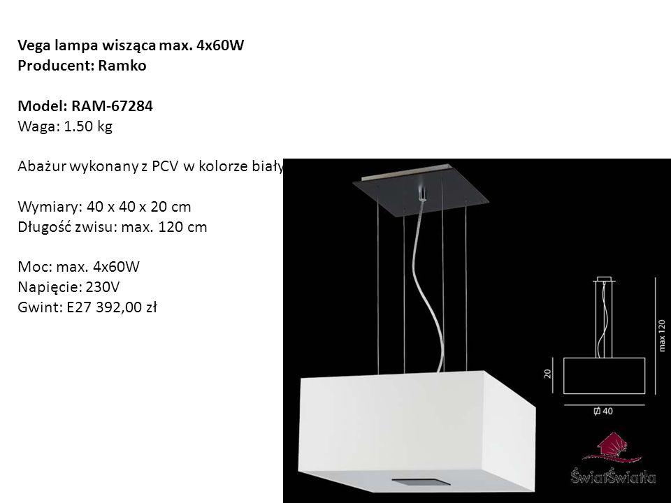 Vega lampa wisząca max. 4x60W
