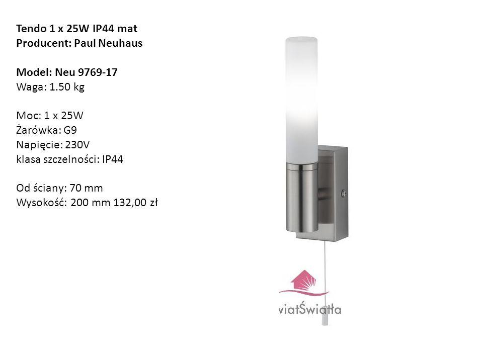 Tendo 1 x 25W IP44 mat Producent: Paul Neuhaus.