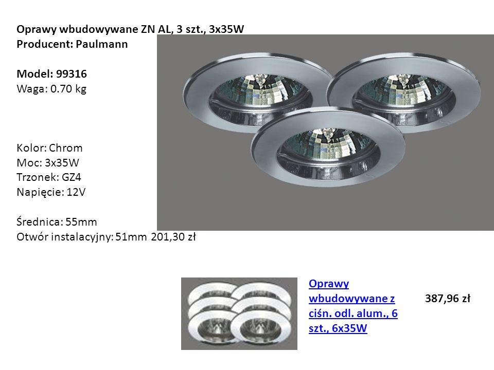 Oprawy wbudowywane ZN AL, 3 szt., 3x35W