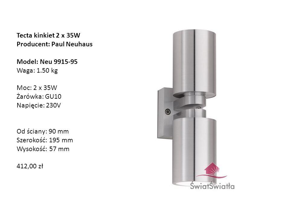 Tecta kinkiet 2 x 35W Producent: Paul Neuhaus.