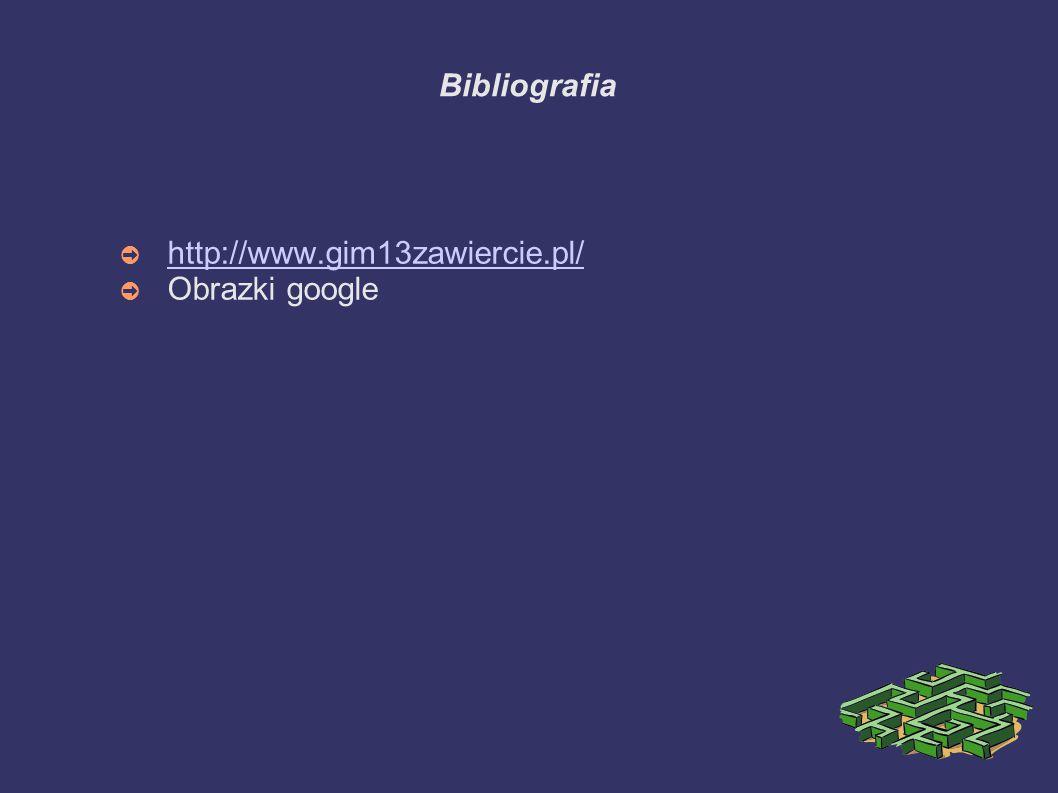 Bibliografia http://www.gim13zawiercie.pl/ Obrazki google