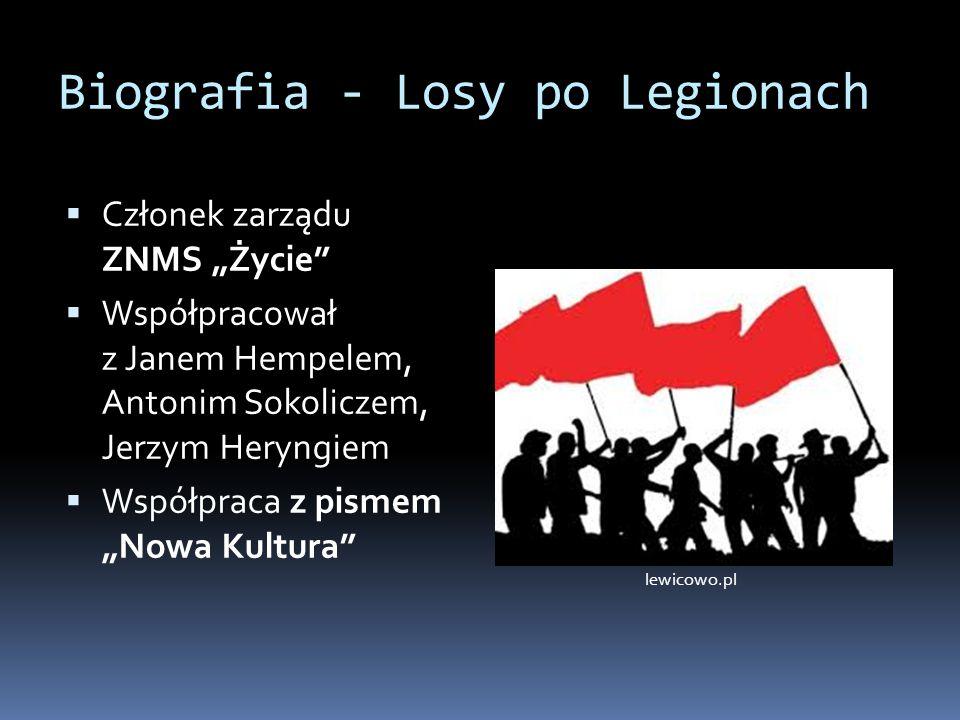Biografia - Losy po Legionach