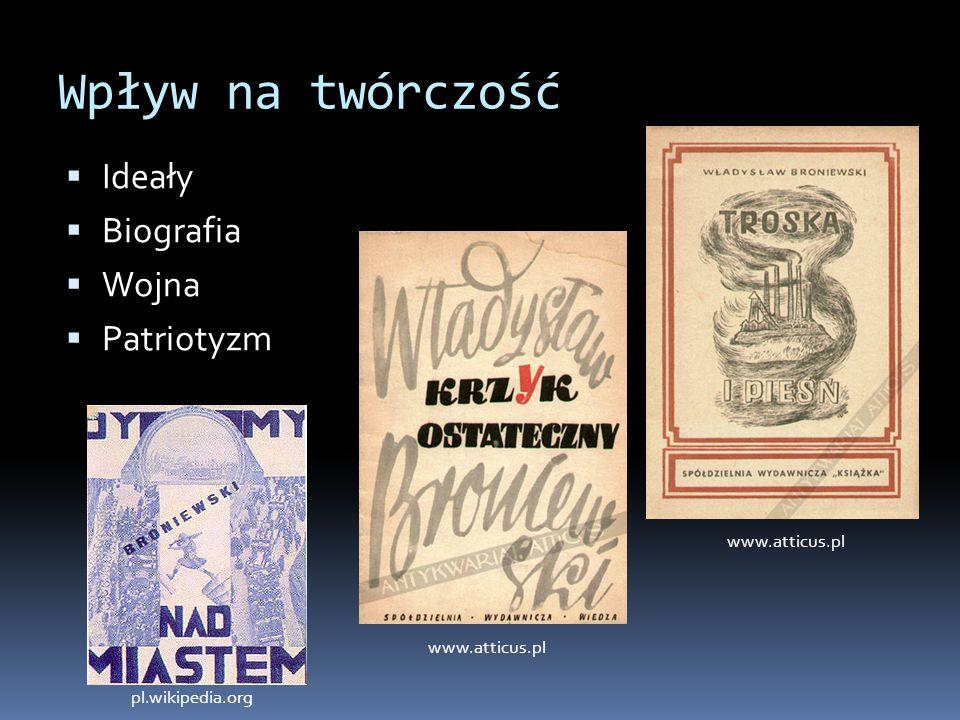 Wpływ na twórczość Ideały Biografia Wojna Patriotyzm www.atticus.pl