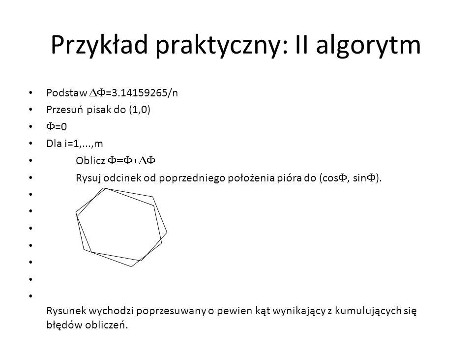Przykład praktyczny: II algorytm