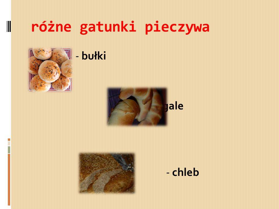 różne gatunki pieczywa