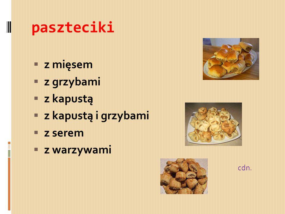paszteciki z mięsem z grzybami z kapustą z kapustą i grzybami z serem